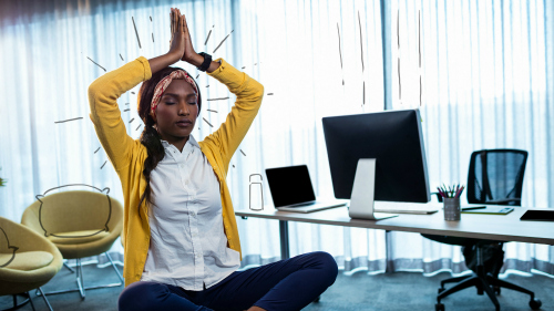 3 Simple Yoga at Work Poses to do at the Office for Stress Relief